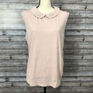 LC Lauren Conrad Runway Peter Pan Collar Tank XL